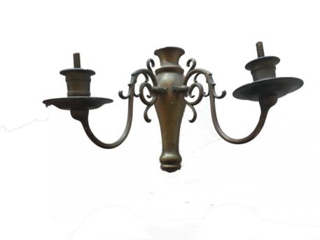 Pair of 2 Light Bronze Sconces