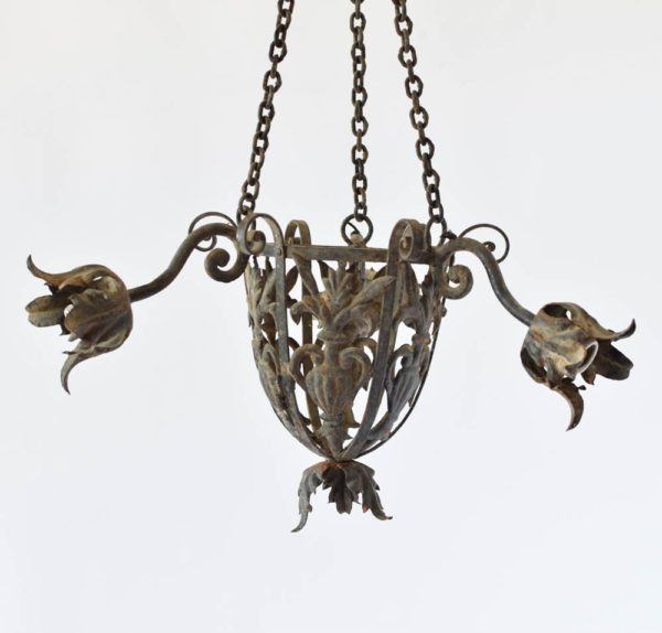 Vintage French Toile Chandelier