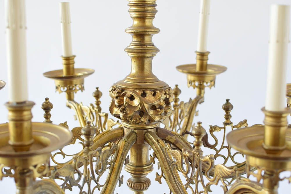 Antique French Ecclesiastical Chandelier. $1,750 - Antique French Ecclesiastical Chandelier - The Big Chandelier