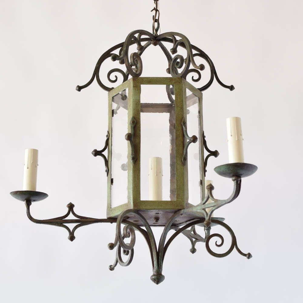 Lantern style chandelier the big chandelier lantern style chandelier with restoration glass arubaitofo Image collections