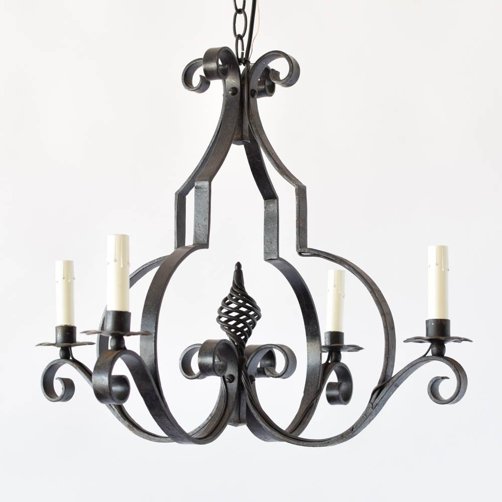 Country french chandelier with open basket the big chandelier country french chandelier with open basket twist decoration aloadofball Images