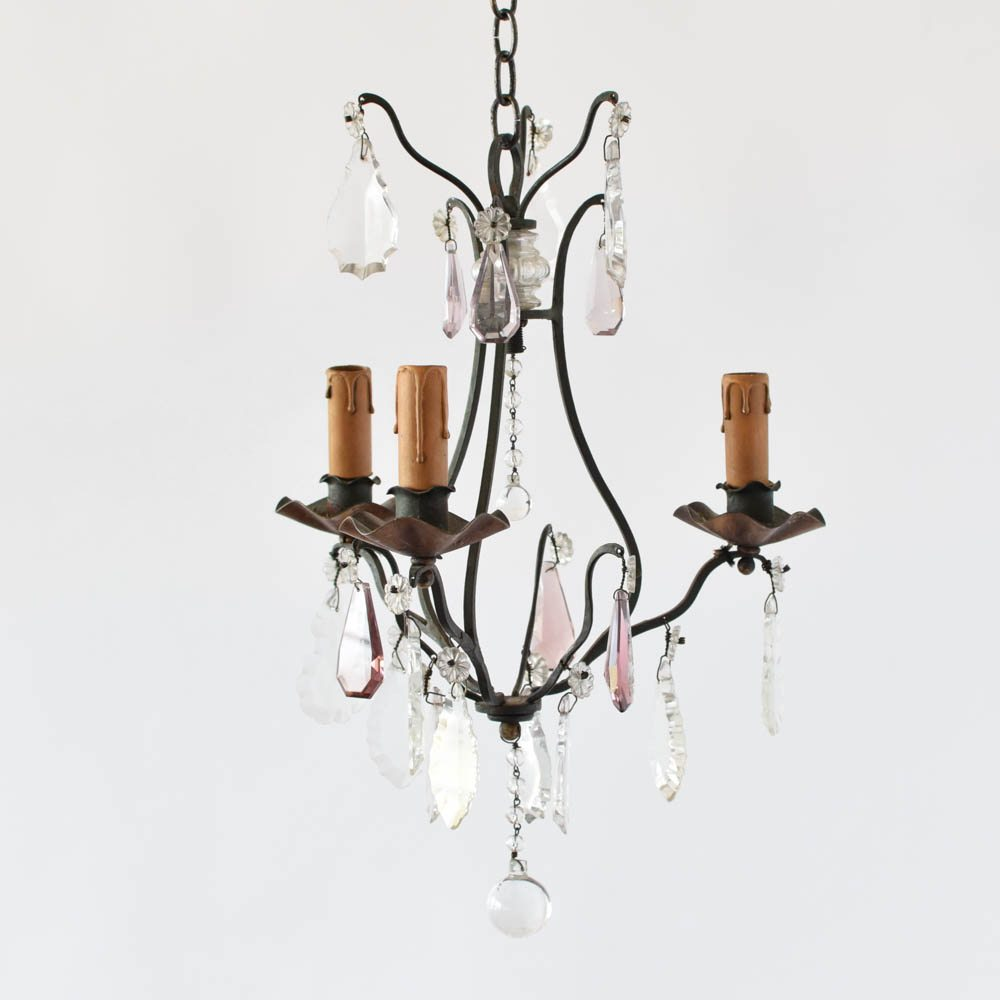 Small ironcrystal chandelier the big chandelier frecnh iron chandelier with amethyst crystals aloadofball Images