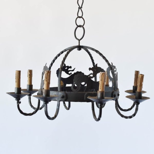 French Chandelier with Dragon Motif