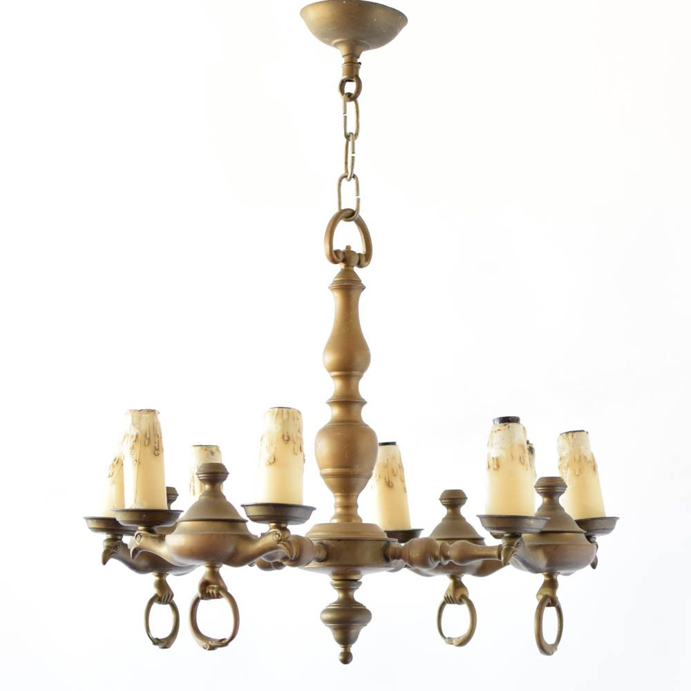 Flemish bronze chandelier with birds the big chandelier old antique vintage birds arubaitofo Gallery