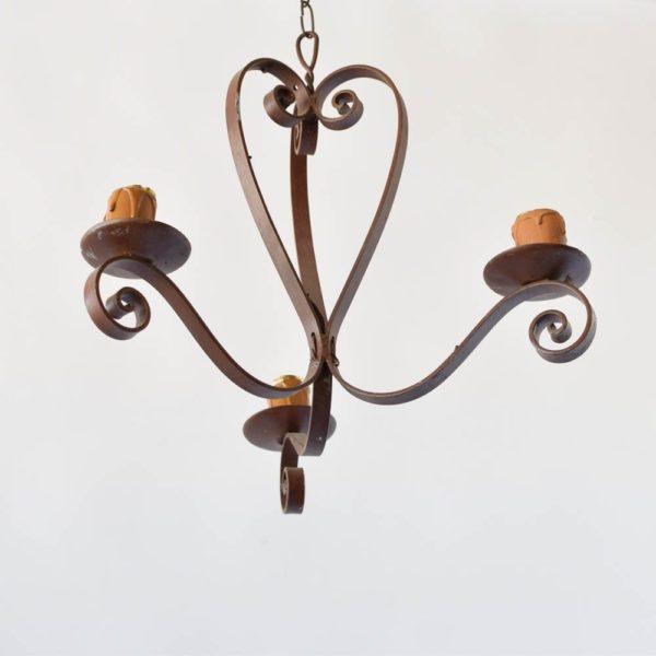 iron simple chandelier