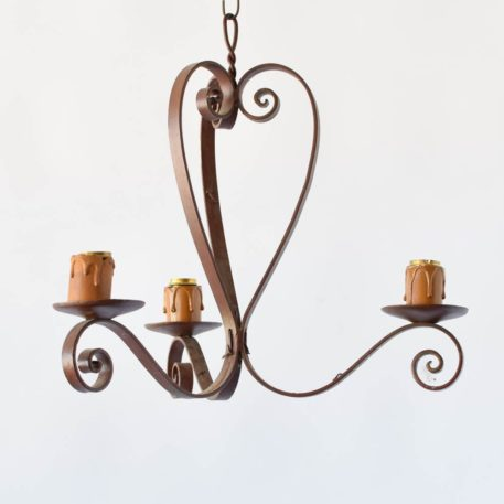 iron french iron chandelier