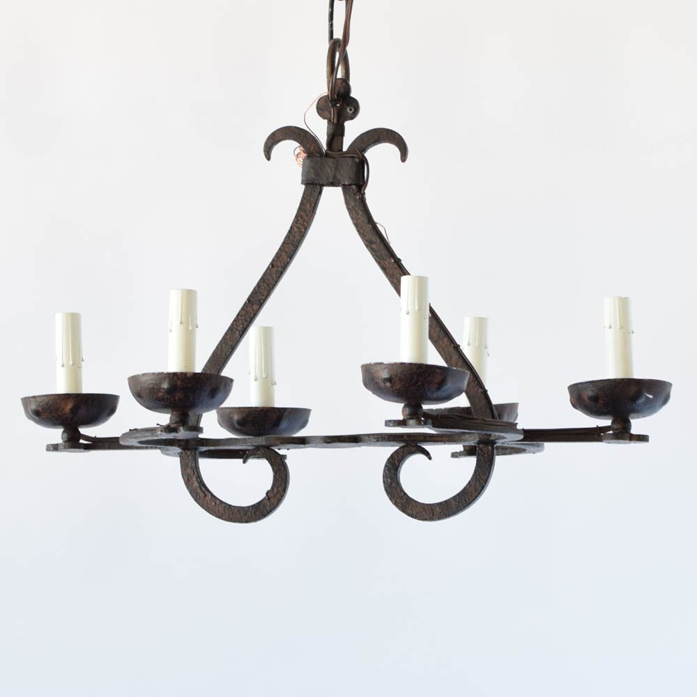 Small elongated iron chandelier the big chandelier small elongated antique iron chandelier aloadofball Images