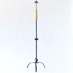 antique old vintage iron floor lamp french belgian