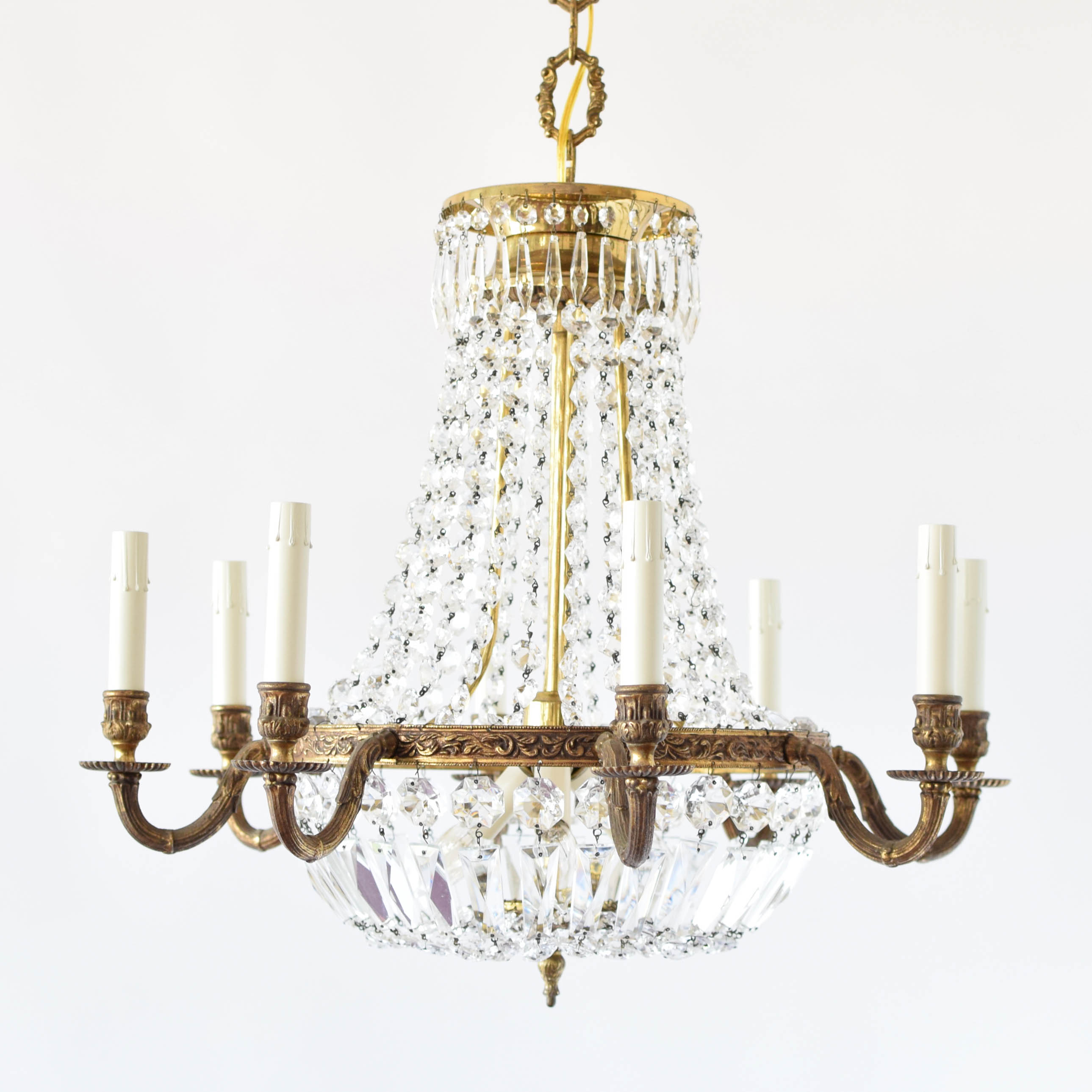lighting design fashioned leaf chandelier up golden home simple old antique macaroni beads gold livex