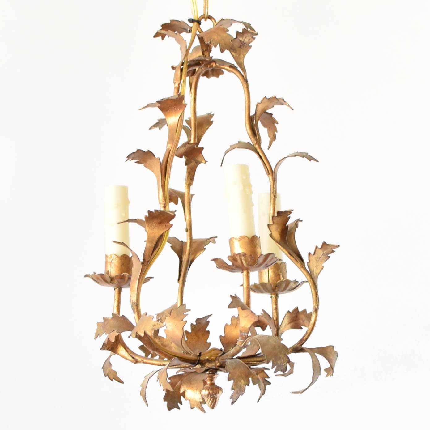 gold leaf chandelier silver italian gold leaf chandelier old vintage antique belgian french spanish spain france belgium chandelier the big