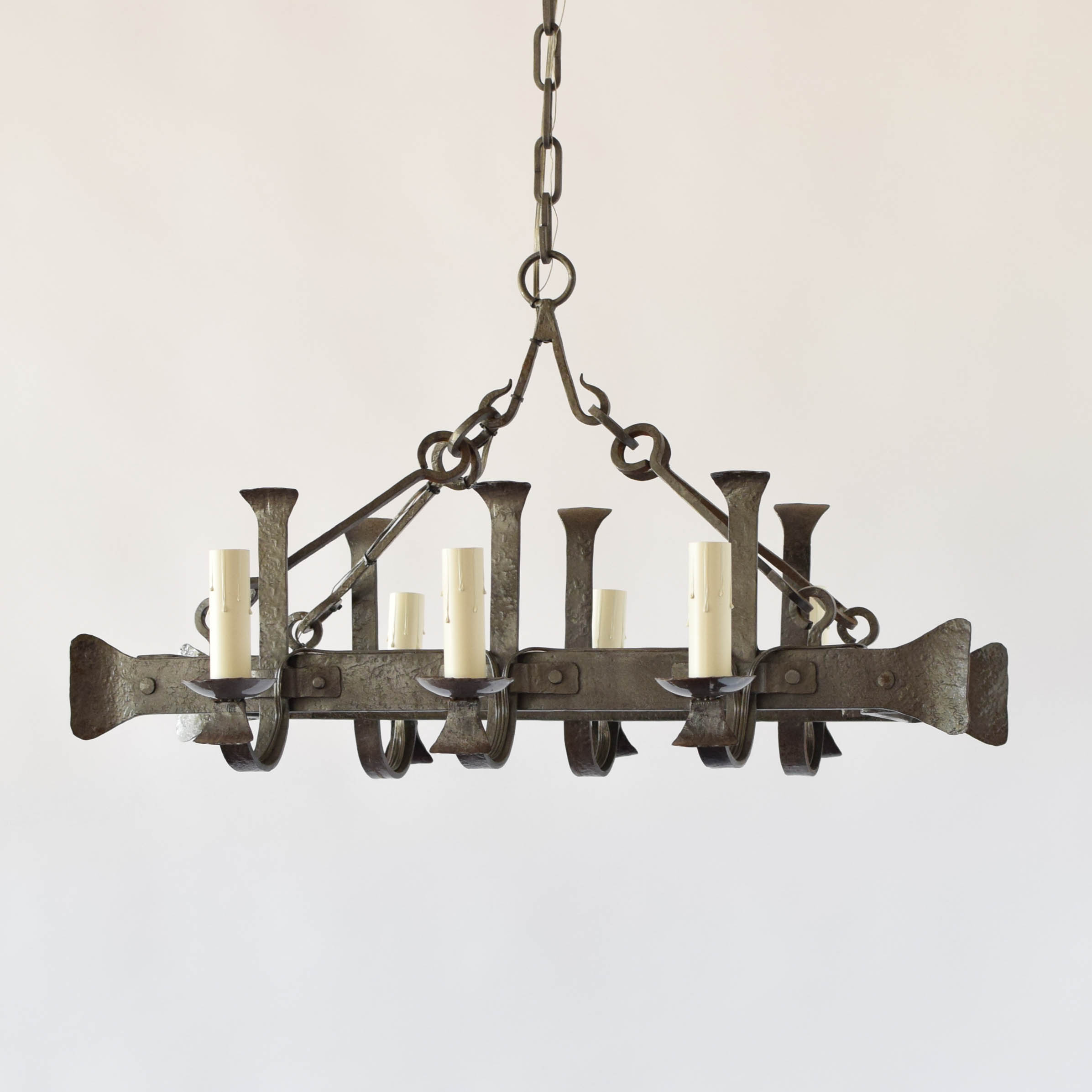 tier chandelier fashioned candles with patinated vintage brass georgian designs old style