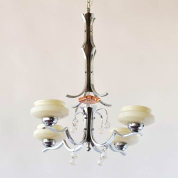 Art Deco Chandelier with Glass accents