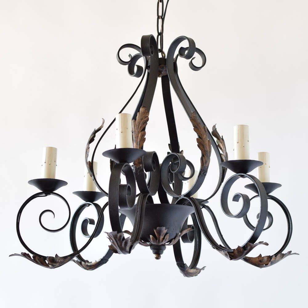 French iron chandelier the big chandelier french iron chandelier mozeypictures Choice Image