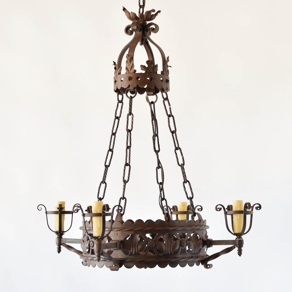 Antique French Iron Neo Gothic Chandelier. $1,500 - Antique Neo Gothic Chandelier - The Big Chandelier