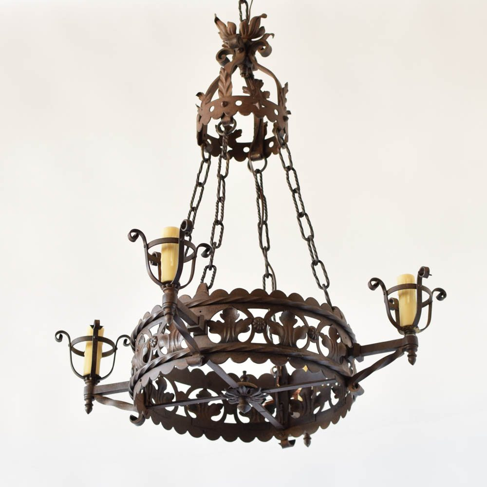 Antique neo gothic chandelier the big chandelier antique french iron neo gothic chandelier mozeypictures Gallery