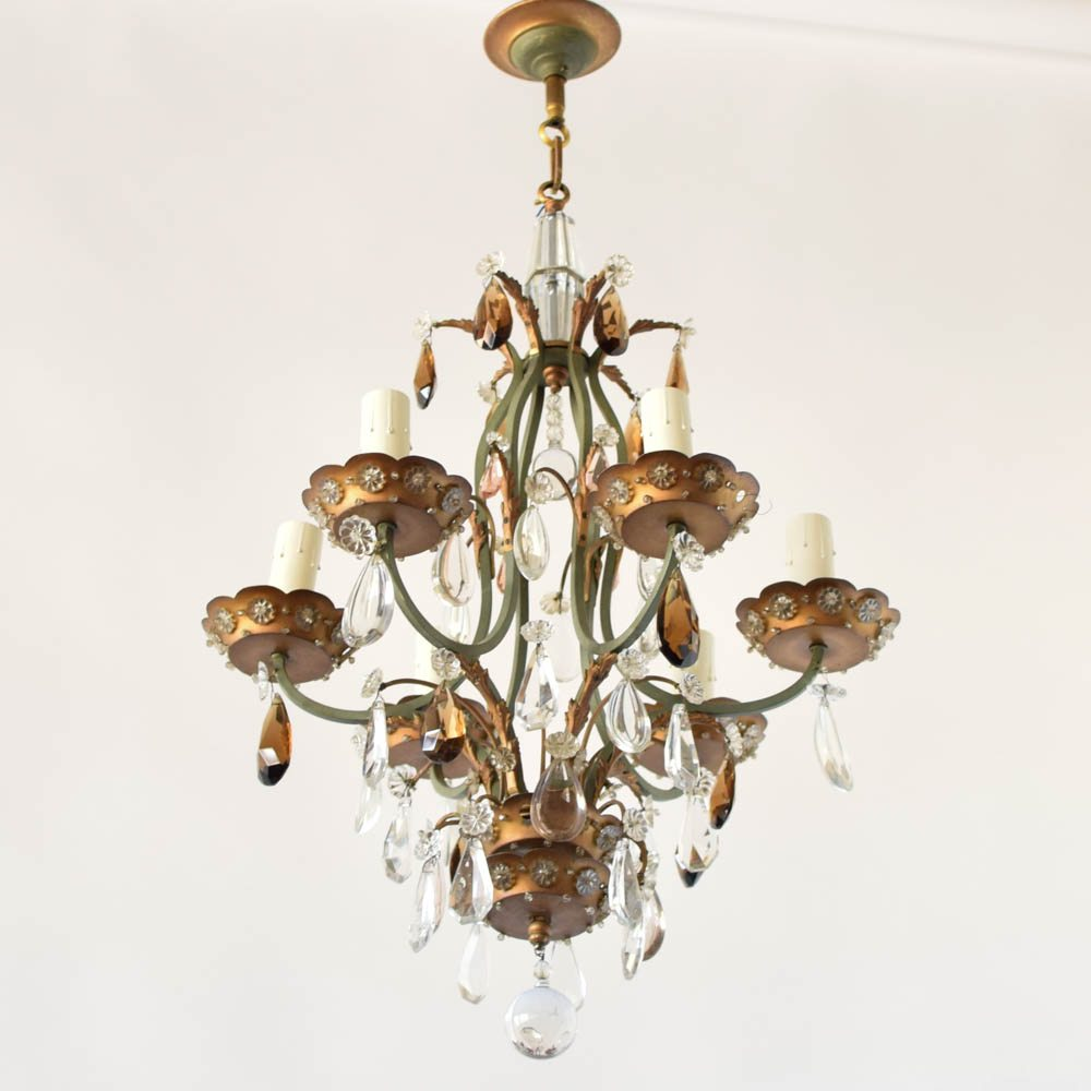 French ironcrystal chandelier the big chandelier aloadofball Images