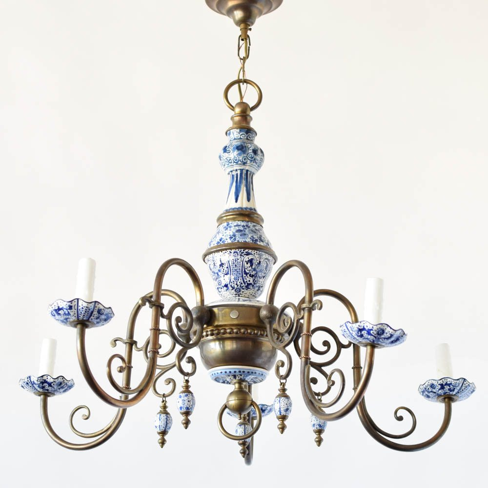 Antique delft chandelier the big chandelier antique delft chandelier mozeypictures Choice Image
