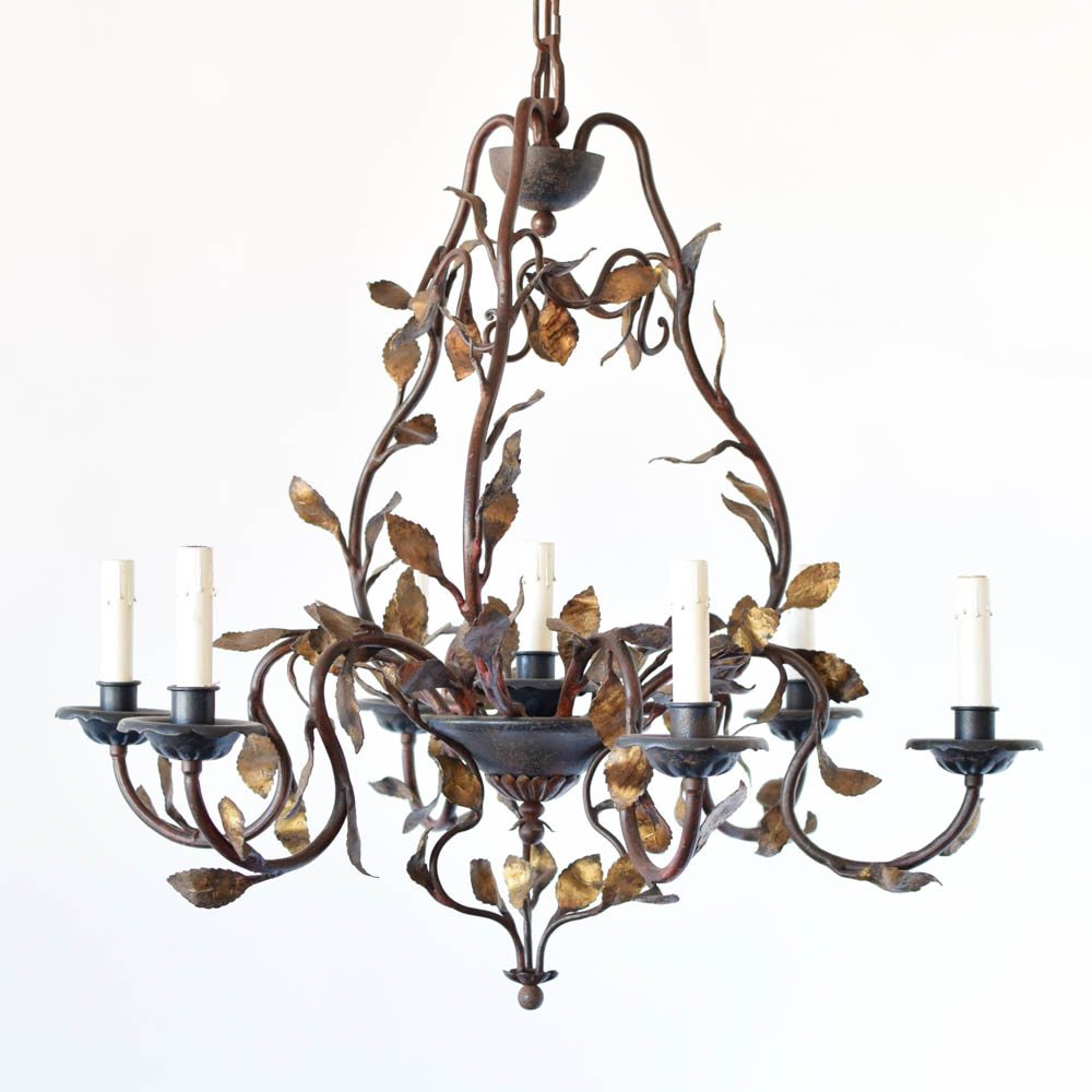 Perfect Italian Chandelier with Leaves - The Big Chandelier NR03