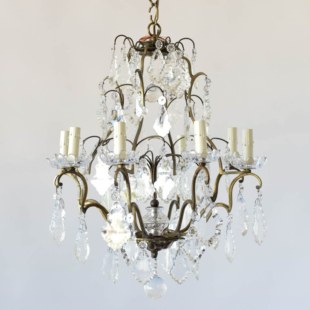 Signed baccarat crystal chandelier the big chandelier signed baccarat crystal chandelier aloadofball Image collections