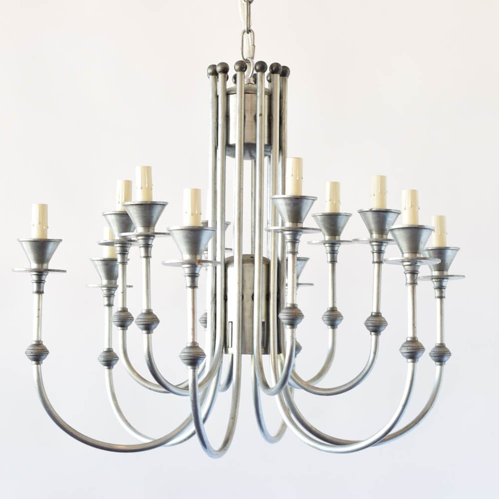 Pewter chandelier woptional down light the big chandelier aloadofball Image collections
