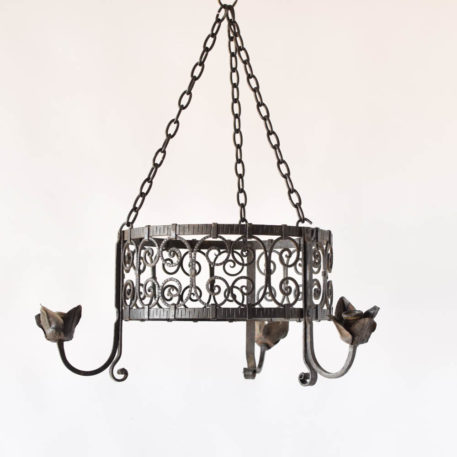 Vintage French Iron Chandelier