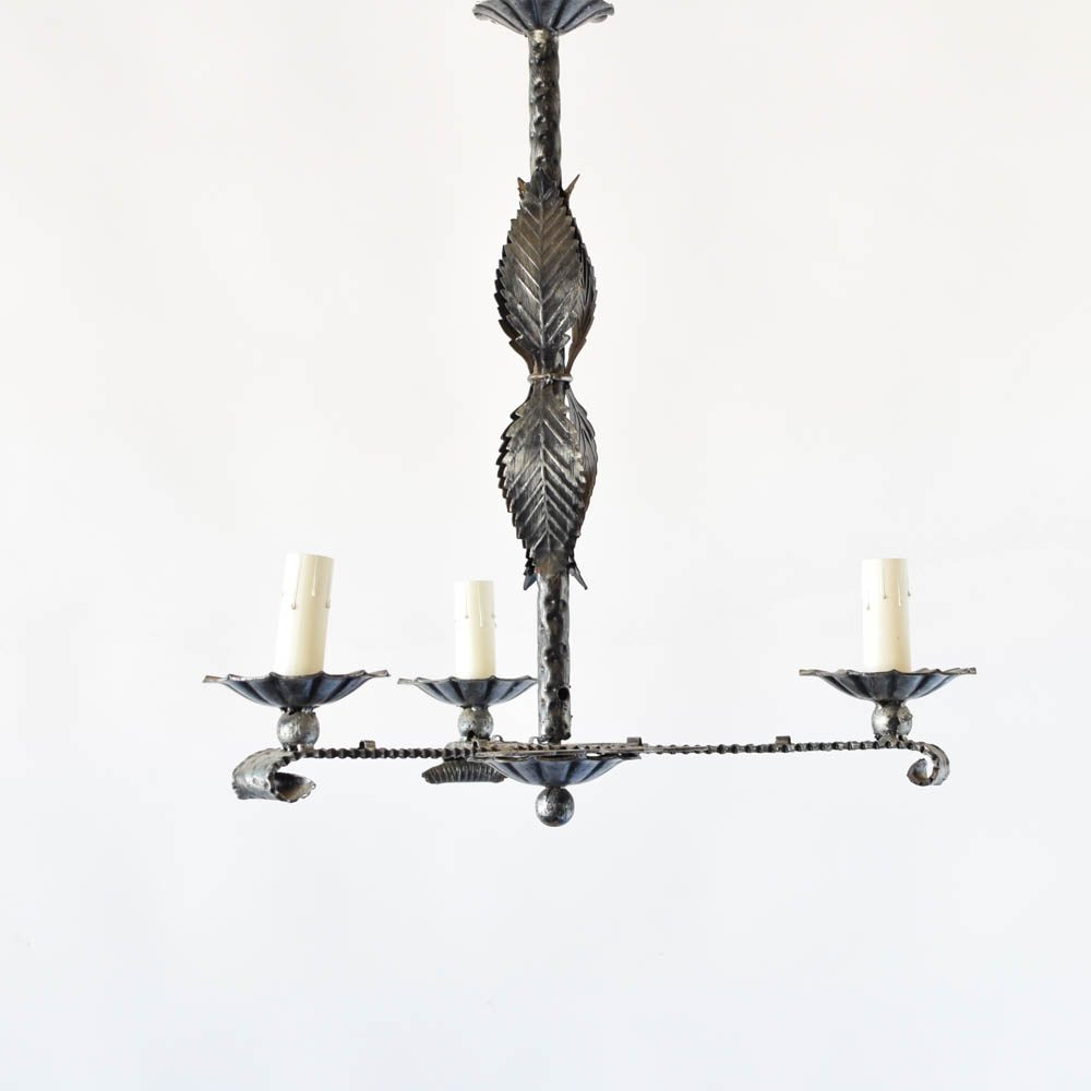 Pair of simple chandeliers the big chandelier pair of simple iron chandeliers from spain arubaitofo Choice Image
