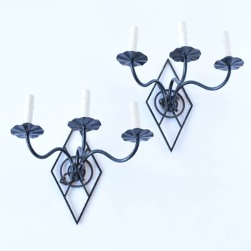 Vintge Belgian Sconces with Diamond Form