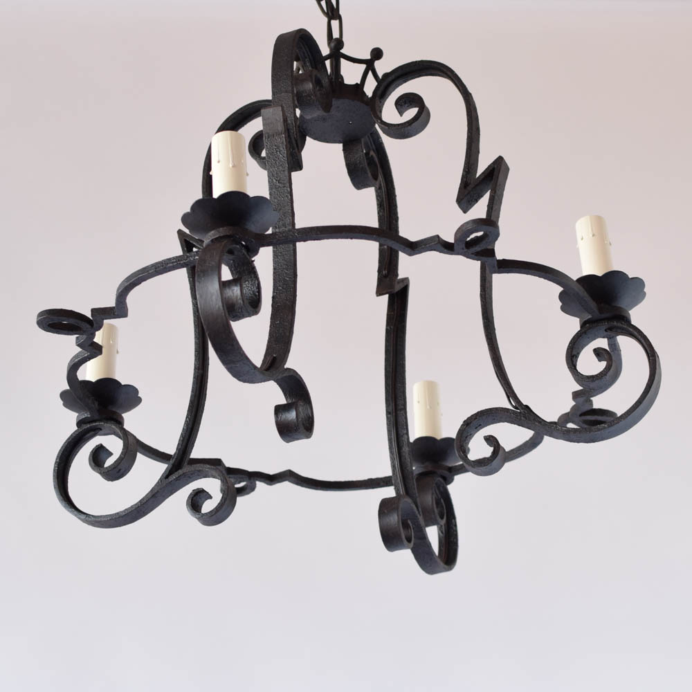 Dome form iron chandelier the big chandelier large belgian iron chandelier 800 arubaitofo Choice Image