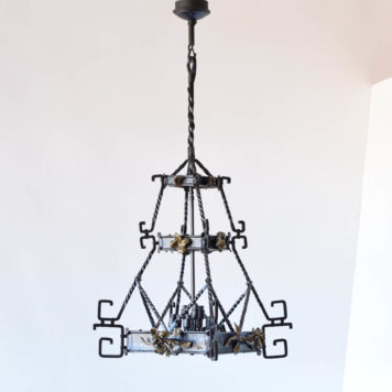 Large Padgoda Form Iron Pendant from France