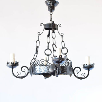 Iron Ring Chandelier from Bellgium