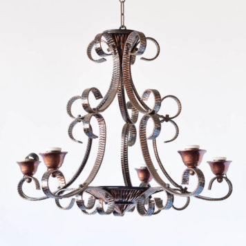 Copper Chandelier from Belgium