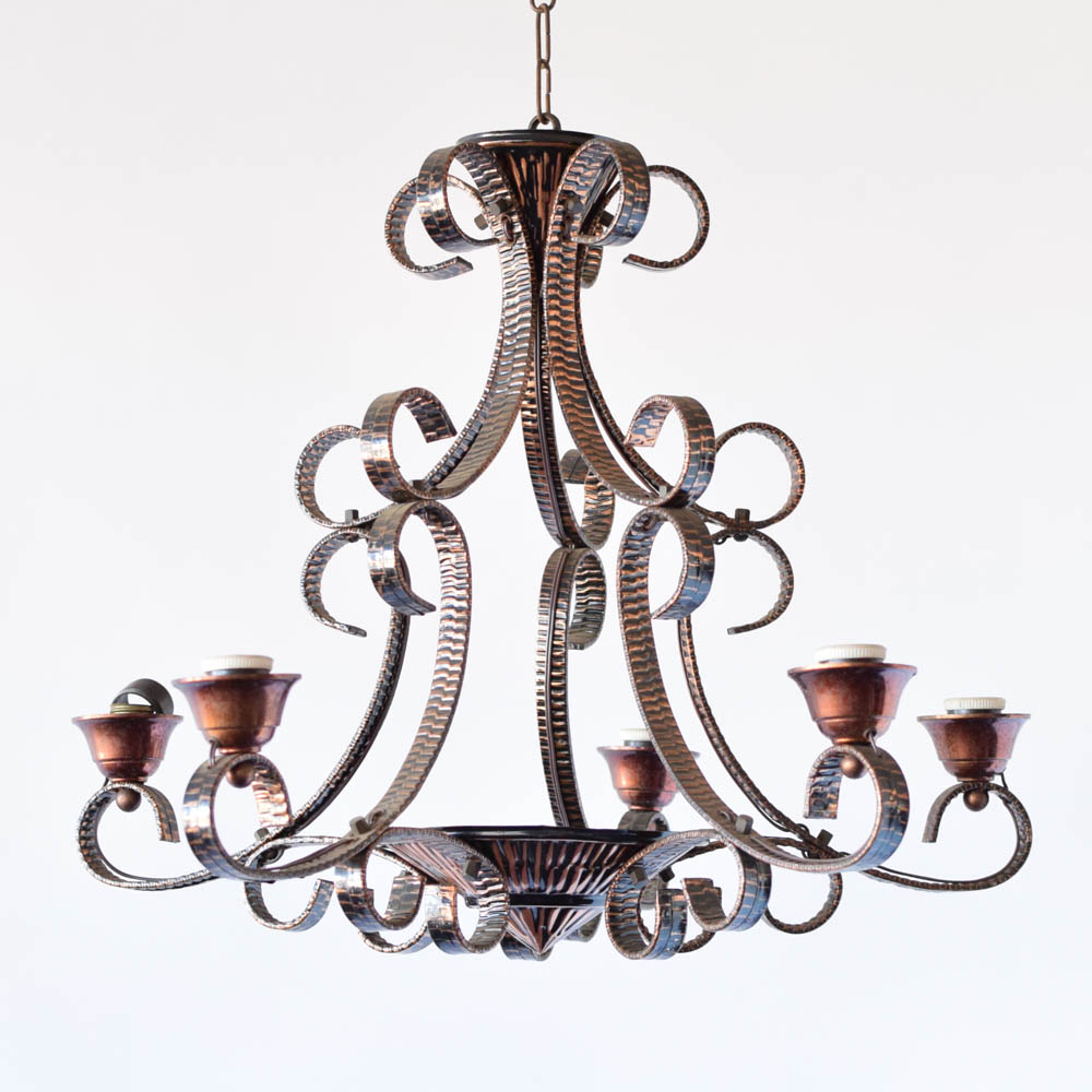 Copper chandelier the big chandelier copper chandelier from belgium aloadofball Gallery