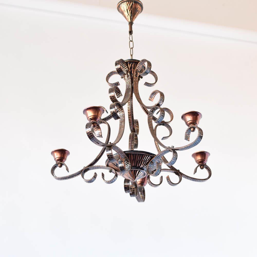 Copper chandelier the big chandelier copper chandelier from belgium 450 aloadofball Gallery