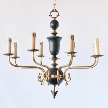 French Empire Chandelier with Arrow Design