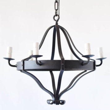 Simple Iron Band Chandelier from Belgium