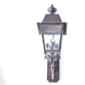 Medium Wall Lantern in solid brass