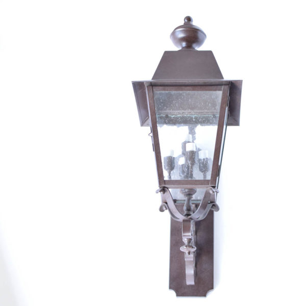 Medium Wall Lantern in solid brass