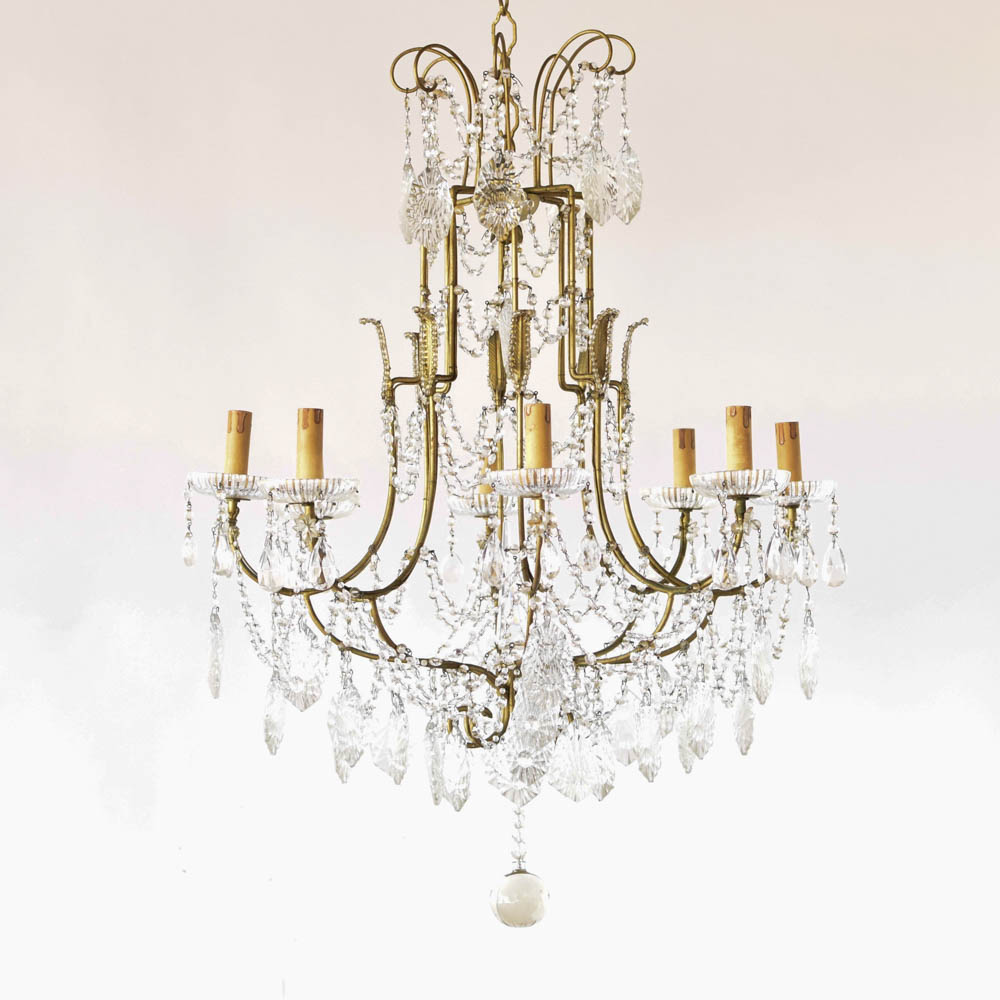 shipping garden product chandelier crystal and swarovski today rococo trimmed overstock iron free home c