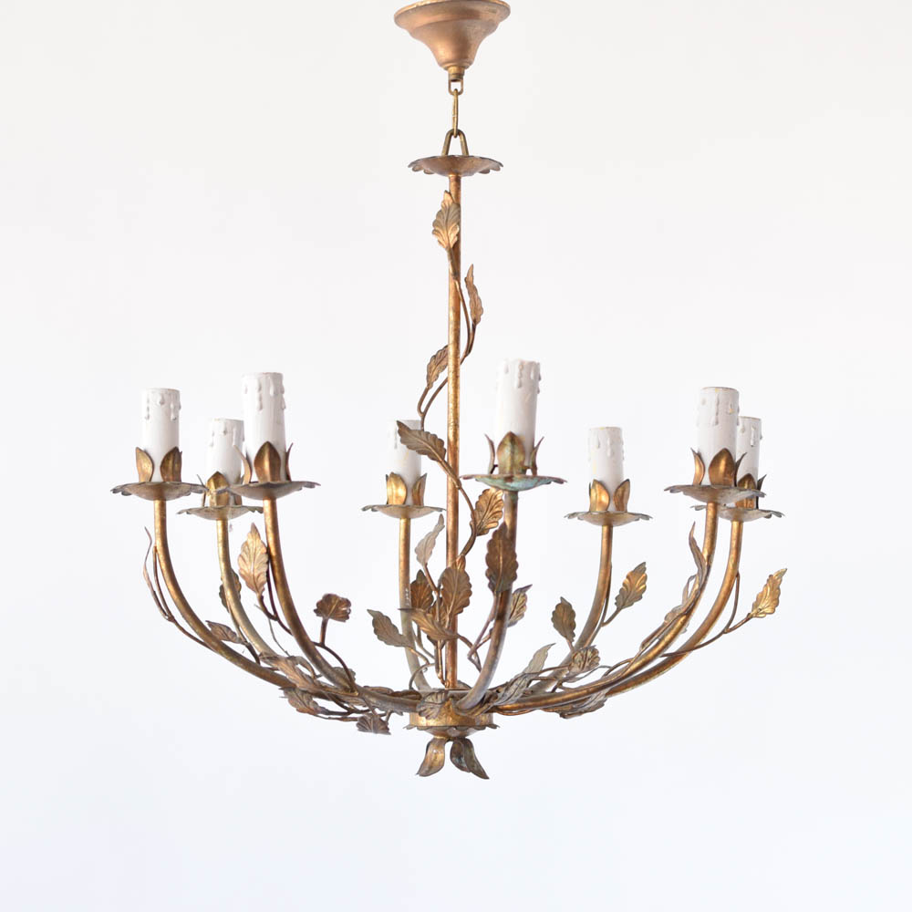Leafy italian chandelier the big chandelier pair of italian leafy chandeliers aloadofball Images