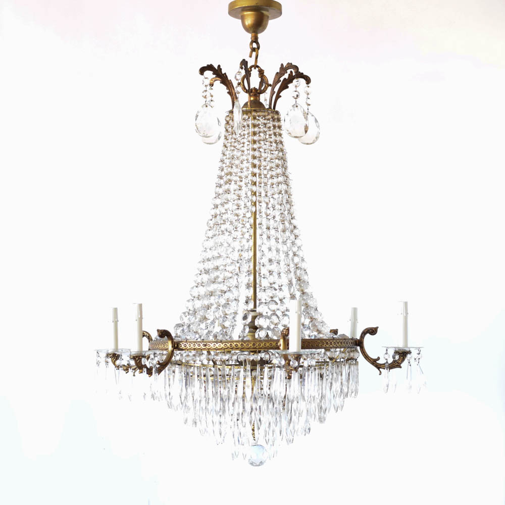 Empire bronzecrystal chandelier the big chandelier french empire chandelier with bronze frame aloadofball