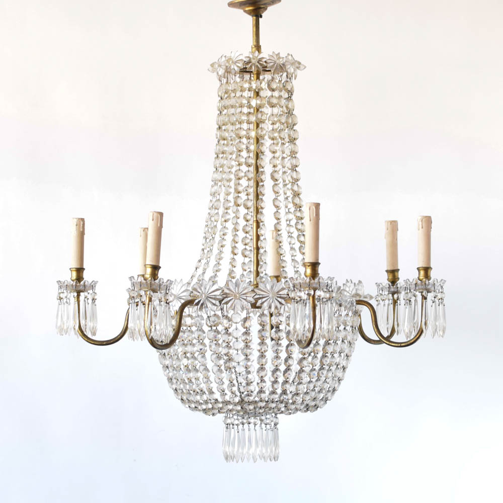 antique empire crystal chandelier the big chandelier. Black Bedroom Furniture Sets. Home Design Ideas