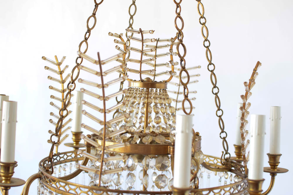 28 Crystal Branch Chandelier Bronze Chandelier W