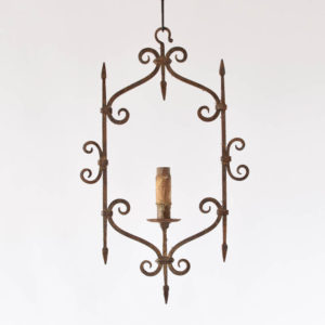 Forged Antique French Hall Lantern