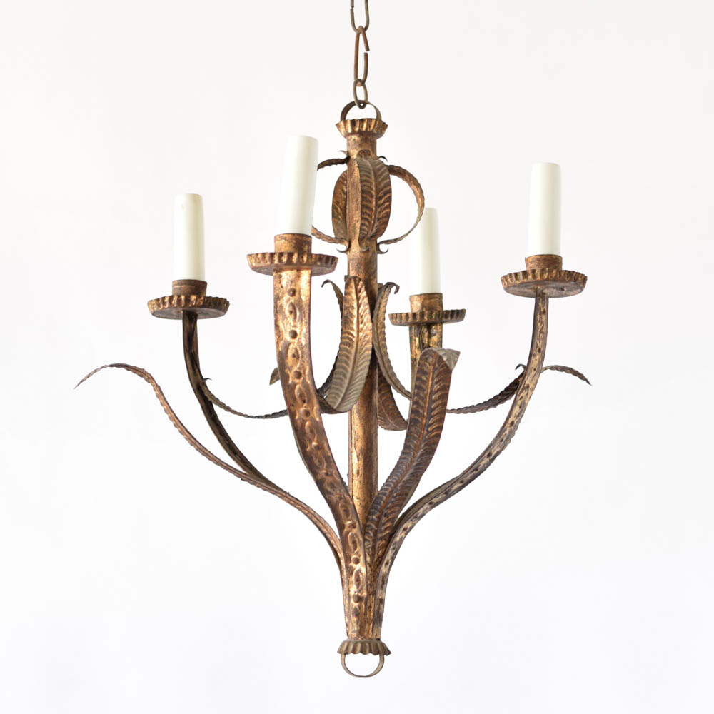 Gilded leaves chandelier the big chandelier vintage spanish chandelier with gilded leaves arubaitofo Choice Image