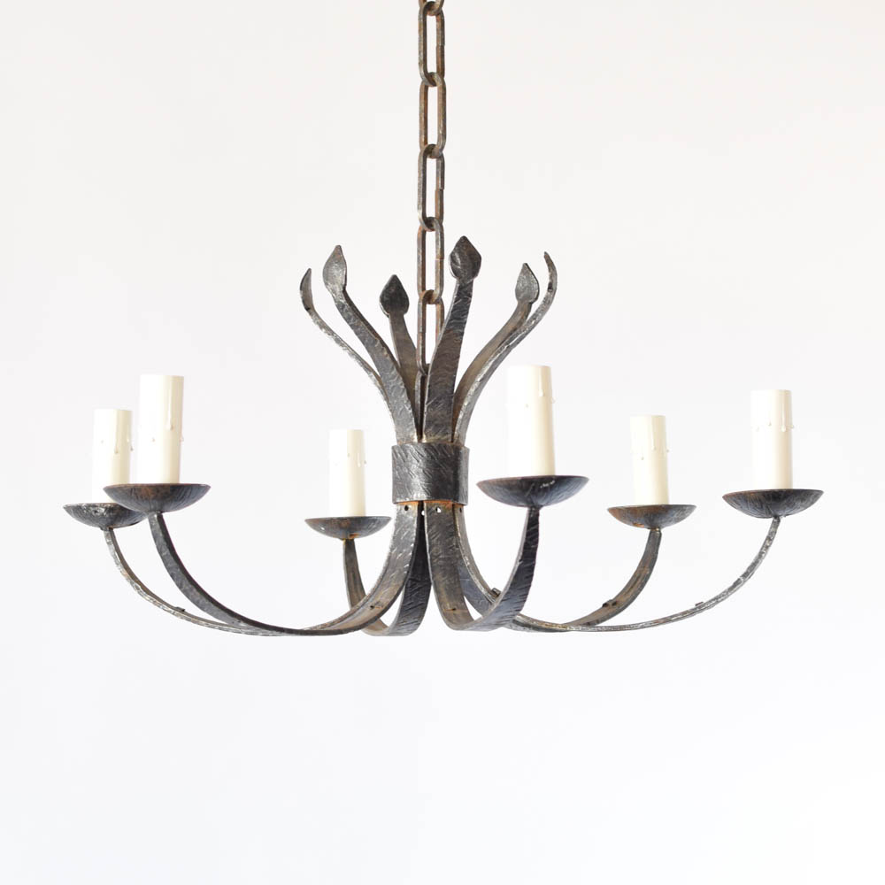 Simple iron chandelier the big chandelier hanf forged iron chandelier arubaitofo Choice Image