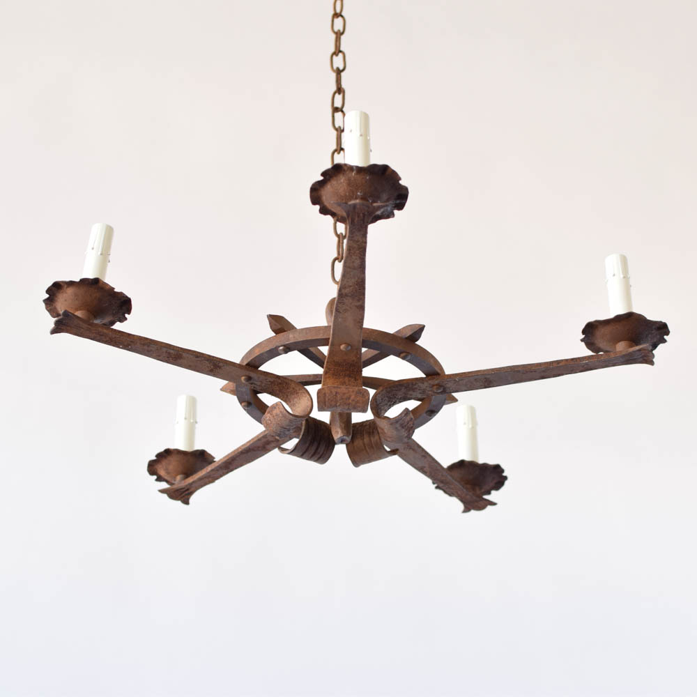 Iron star chandelier 2 avail the big chandelier antique iron star shaped chandelier from france aloadofball Image collections