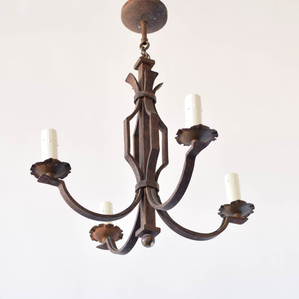 Simple iron chandelier the big chandelier simple iron chandelier from belgium 575 arubaitofo Choice Image