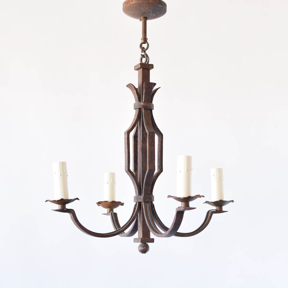 Simple iron chandelier the big chandelier simple iron chandelier from belgium arubaitofo Choice Image