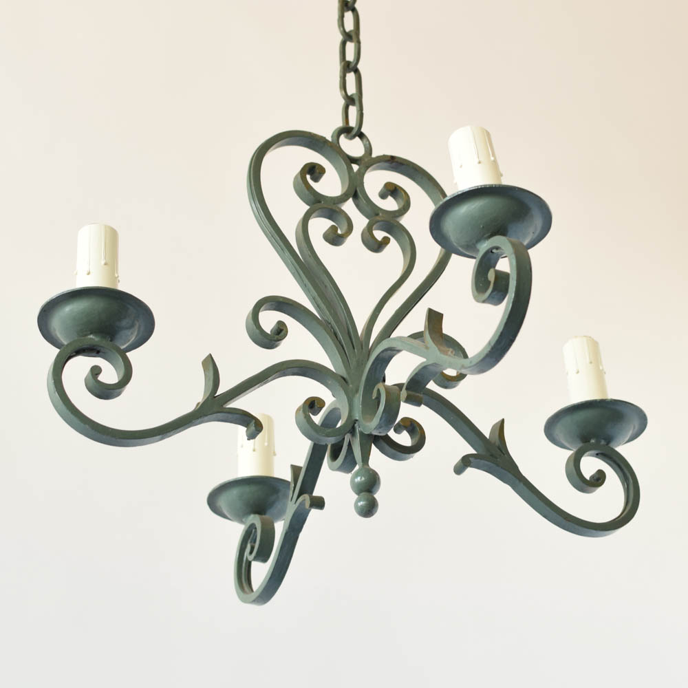 Green french chandelier the big chandelier arubaitofo Choice Image