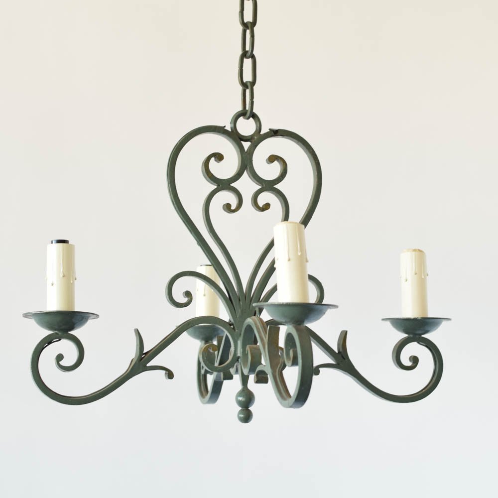 Green french chandelier the big chandelier country french iron chandelier arubaitofo Choice Image